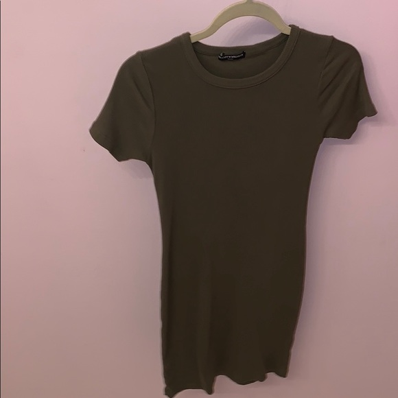 d1bdf8f5fbbd Dresses | Simple Olive Green Brandy Melville Tshirt Dress | Poshmark
